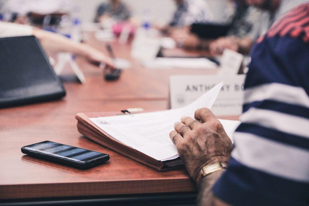 2019 SBRRB chair at work
